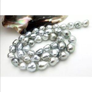 """🆕 Silver Baroque South Sea Pearls 11-12mm 18"""""""